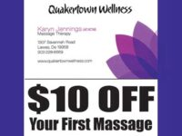 $10 Off your first massage with Karyn Jennings, LMT, NCTMB