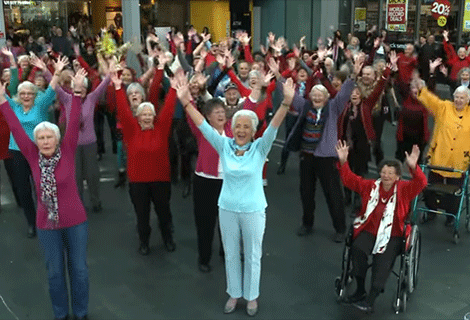 Fun Stuff: The World's Oldest Flash Mob