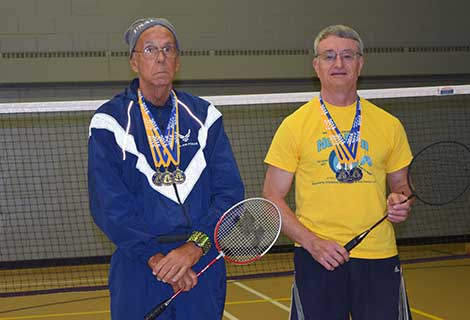 DSO Badminton competition October 28, 2015 Gold medal winners: Ron Salamon & David Lovelace