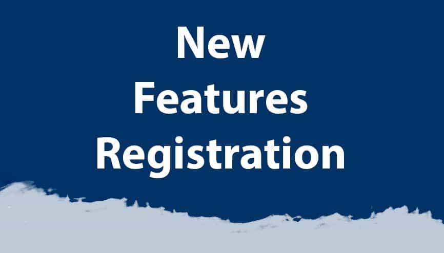new registration    website features